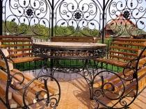 Лавочки и столы для беседки кованные .jpg